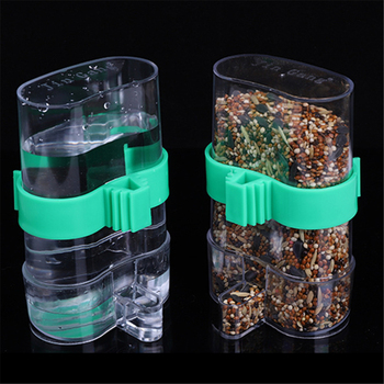 220ml Automatic Bird Food Feeder Hanging Cage Water Drinker Transparent Acrylic Parrot House Feeding Tools for Mannikin Sparrow 5