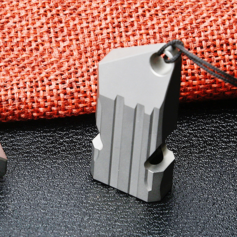 Multifunction EDC Tool Outdoors High Decibel Portable Whistle Titanium Double Pipe Emergency Training  Survival Whistle