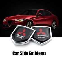 Auto Sticker Metalen Embleem Decal Exterieur Accessoires Voor Mitsubishi L200 Pajero Ralliart Asx Lancer 9 10 Outlander Eclipse Bdage