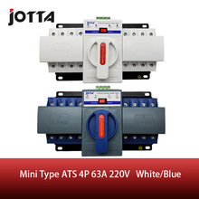 JOTTA 4P 63A 380V ATS MCB type Dual Power Automatic Transfer Switch Change Over Switch 2p 63a 230v mcb type blue color dual power automatic transfer switch ats