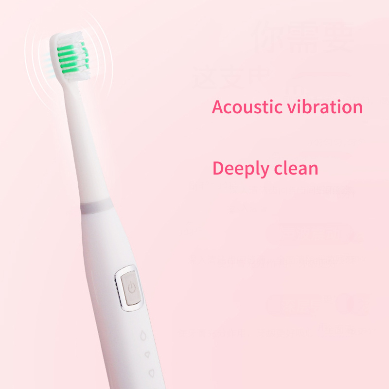 EAS-Adult Child Electric Toothbrush USB Induction Rechargeable Electric Toothbrush Sonic Electric Toothbrush IPX7 Waterproof