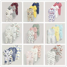 3PCS Baby Foot Cover Jumpsuit Cotton Three Quarter O-Neck Print Cute Trendy Style Unisex Cotton Baby Foot Cover Jumpsuit все цены
