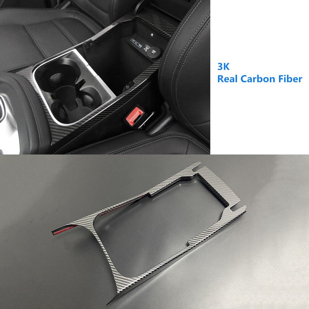 3K держатель стакана для воды из натурального углеродного волокна с переключением передач, отделка панели для Jaguar E-Pace EPACE 2018-2019 LHD