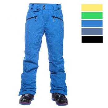Men's New Outdoor Snow Pants Waterproof Windproof Warming Wear-resistant Trousers Snowboard Pants Male Skiing Trousers