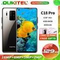 OUKITEL C18 Pro 6,55 ''HD + Дисплей 4 Гб 64 Гб MTK6757 Octa, четыре ядра, смартфон с функцией отпечатков пальцев Face ID отпечатков пальцев Android 9,0 4000 мАч мобильный т...
