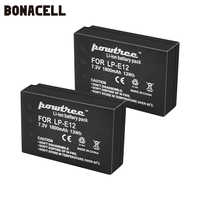 Bonacell 1800mAh LP-E12 LPE12 LP E12 batterie d'appareil photo pour Canon EOS M10 Kiss X7 rebelle SL1 EOS 100D DSLR batterie L50