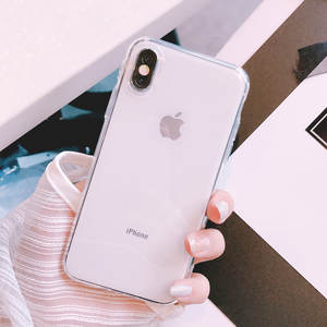 IPhone Transparent Phone Case 8plus Apple x sma x Protective Case 7plus Simple TPU Shatter-resistant 678 Applicable X