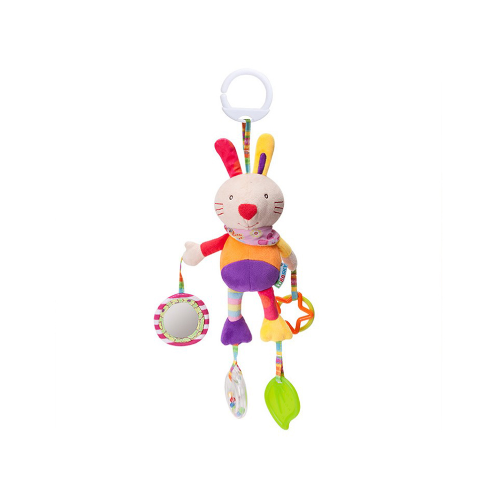 Cute Baby Plush Stuffed Rattle Mobile Animal Wind Chime Baby Toy Plush Bed Trailer Hanging Toys Infant Educational Bed Bell Gift