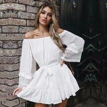Cover ups 2020 White Cotton Tunic Beach Dress Summer Tunic For Women Beachwear Swimsuit Cover Up Beach Woman Sarong palge #Q745