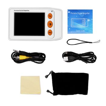 Digital Magnifier 2-25X Magnification 3.5 Inch LCD Screen Seniors Reading Aid Digital Magnifier