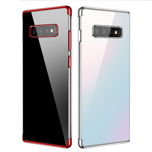 Luxury Plating Case For Samsung Galaxy S8 S9 S10 Plus Case Ultra-Thin Transparent TPU Back Cover S10e Lite S6 S7 Edge Cover Case(China)