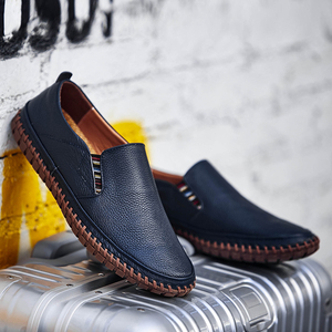 Image 3 - Genuine Leather Casual Slip On Mens Moccasins Men Shoes Loafers Mocassin Homme Footwear Man Topsiders High Quality Plus Size
