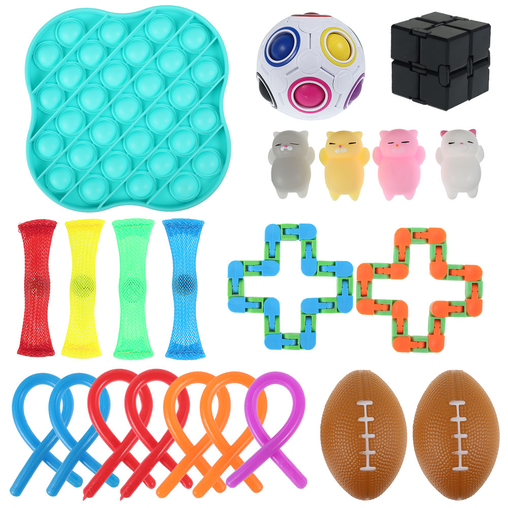 Sensory Toy Set Stress Relief Toy Autism Anxiety Relief Stress squeeze Bubble Antistress img3