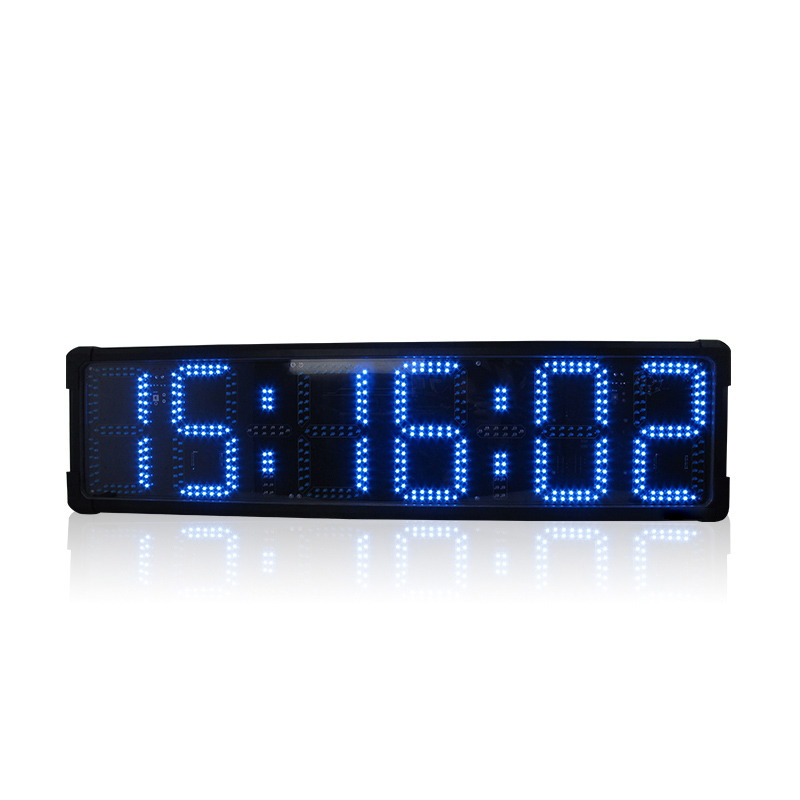 Double-side Outdoor Sports Race Timer Led Digital Countdown Count Up Clock With Stopwatch Function