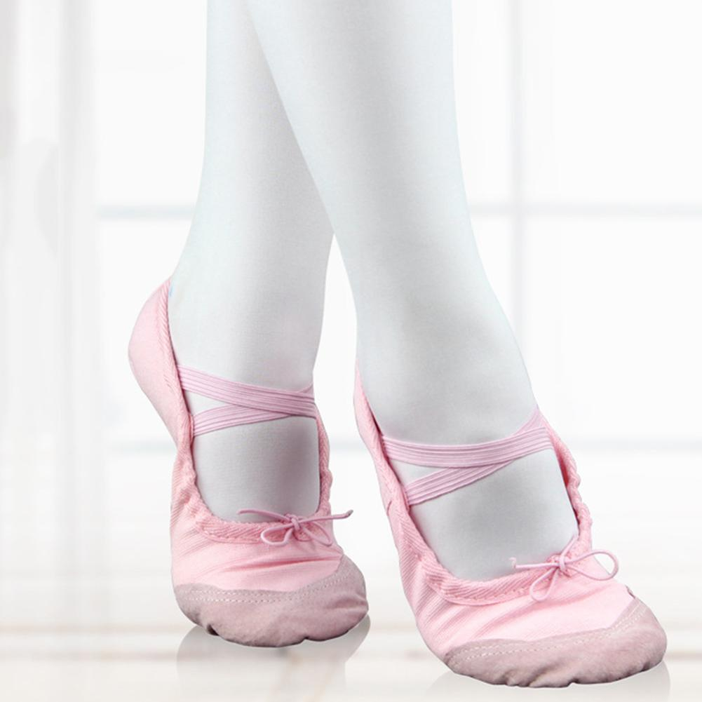 Children Girl Shoes Dance Kid Girl Shoes Ballet Canvas Soft Sole Yoga Sneakers Children Girls Footwear