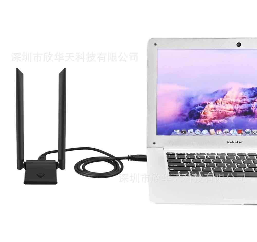KuWFi USB 3.0 Wifi adaptateur 1200Mbps PC Wifi récepteur 2.4G & 5.8G RTL8812BU antenne USB Ethernet Lan Wifi Dongle avec 2 * 5dBi