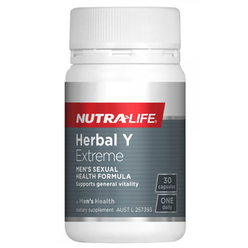 NutraLife HERBAL Y EXTREME Horny Goat Weed PILLS Male Tonic Men Sexual Vitality Reproductive Health Healthy Sperm Fight Stress image