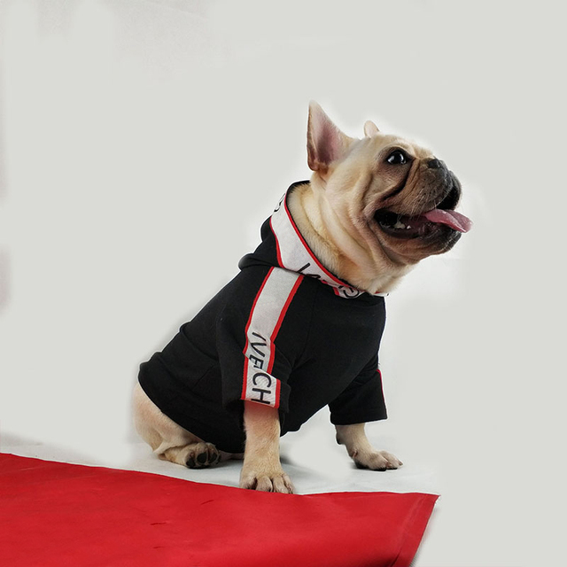 Fashion Dog Clothes for Small Dogs Cotton Hoodies for French Bulldog Outfit for Chihuahua Letter Print Pet Puppy Costume PC0914 2