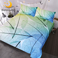 Blesslife постельные принадлежности с изображением листьев  набор с прозрачной текстурой листьев  пододеяльник  натуральный домашний текстиль ...