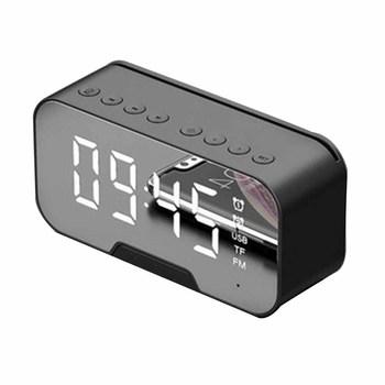 G5 lustrzany budzik LED zegar głośnik Bluetooth Subwoofer radiowy odtwarzacz muzyczny zegar płatność transmisja głosowa włożona karta zegar tanie i dobre opinie CN (pochodzenie) SQUARE DIGITAL 400g Cyfrowy Z tworzywa sztucznego Nowoczesne Pojedyncze twarzy LA-PF20143 Voice prompt