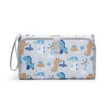 Portable Baby Diaper Pad Multifunctional Foldable Waterproof Diaper Changing Bag 97BC