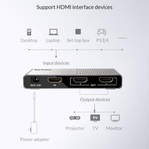 Image 3 - Unnlink HDMI ספליטר 1X2 1X4 HDMI2.0 UHD4K @ 60H 18 5gbps 444 HDCP 2.2 HDR 1 ב 2 4 מתוך עבור LED טלוויזיה MI תיבת מתג PS4 xBox מקרן