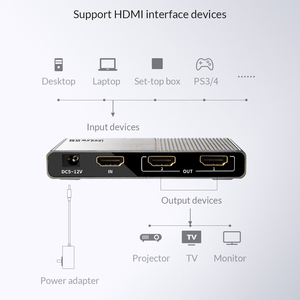 Image 3 - Unnlink HDMI Splitter 1X2 1X4 HDMI2.0 UHD4K@60H 18Gbps 444 HDCP 2.2 HDR 1 In 2 4 Out for LED TV MI Box Switch PS4 xBox Projector
