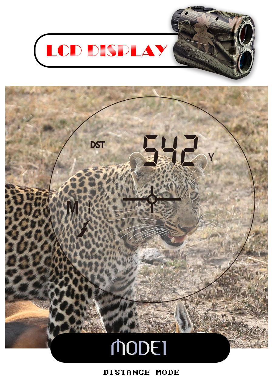 BIJIA 600M Laser Rangefinder with LCD Display and Distance/Golf Mode Used as Angle Measuring Tool 10
