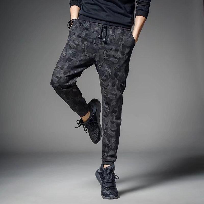 Summer Camouflage Pants Men Harem Pants Skinny Athletic Pants Men's Casual Long Pants Sweatpants Korean-style Closing Fashion Bu