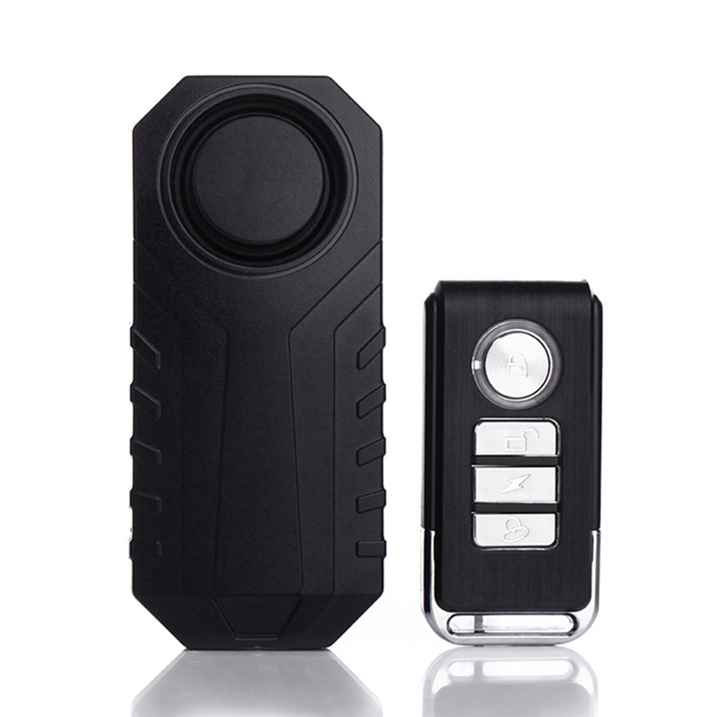 Motor Bicycle Wireless Alarm With Remote Control Waterproof Anti-theft Vibration Security Sensors 113dB