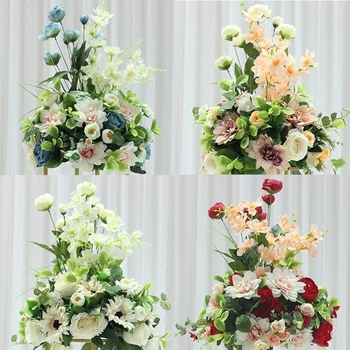38cm Wedding Table Decor Artificial Flower Simulation Silk Flowers Party Table Decoration Backdrop Photograph Props Fake Flower