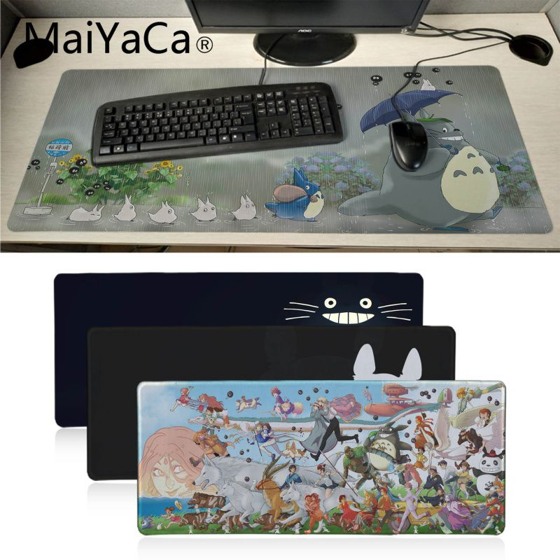 Maiyaca New Designs My Neighbor Totoro Anime Mouse Pad Gamer Play Mats Notebook Office Mice Gamer Soft Lockedge Gaing Mouse Pad