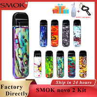 En stock vape pod SMOK novo 2 kit pod vape 2ml cartucho y 800mAh cigarrillo electrónico Vape ajuste DC MTL Pod novo 2 del SMOK RPM40