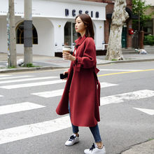 2019 New Medium and Long Loose Cashmere Coats with Womens Double-sided Women Jackets