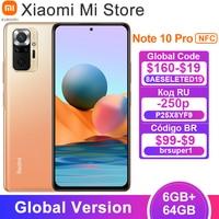 2021 Global Version Xiaomi Redmi Note 10 Pro Cellphone 6GB 64GB Snapdragon 732G Octa Core 108MP Quad Camera 120Hz AMOLED Display 1