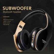 Smart Bluetooth Hoofdtelefoon Super Bass Stereo Surround Sound Noise Cancelling Hd Mic Hifi Geluidskwaliteit Wired + Draadloze Headsets