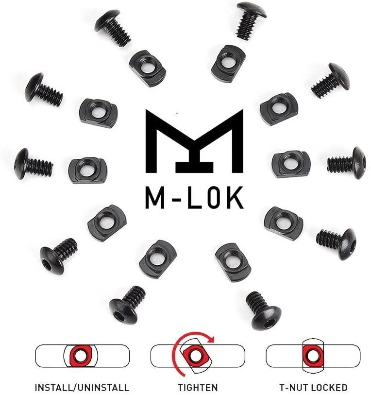 10 יח'\חבילה M-LOK בורג ואגוז החלפה עבור MLOK Handguard רכבת חלקים ציד אקדח אבזרים