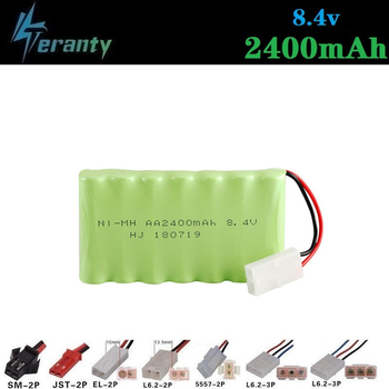 2400mah 8.4v Rechargeable Battery For Rc toys Cars Tanks Robots Gun NiMH Battery AA 8.4v 700mah Batteries Pack For Rc Boat 1PCS image