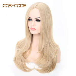 Image 4 - COSYCODE Synthetic Blonde Wig with Wavy Ends 24 Long Cosplay Wig for Women Heat Resistant Halloween Wig Non Lace Costume Wig