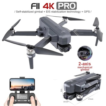 2021 NEW F11 PRO 4K GPS Drone With Wifi FPV 4K HD Camera Two-axis anti-shake  Brushless Quadcopter Vs SG906 Pro 2 RC Dron Toys 1