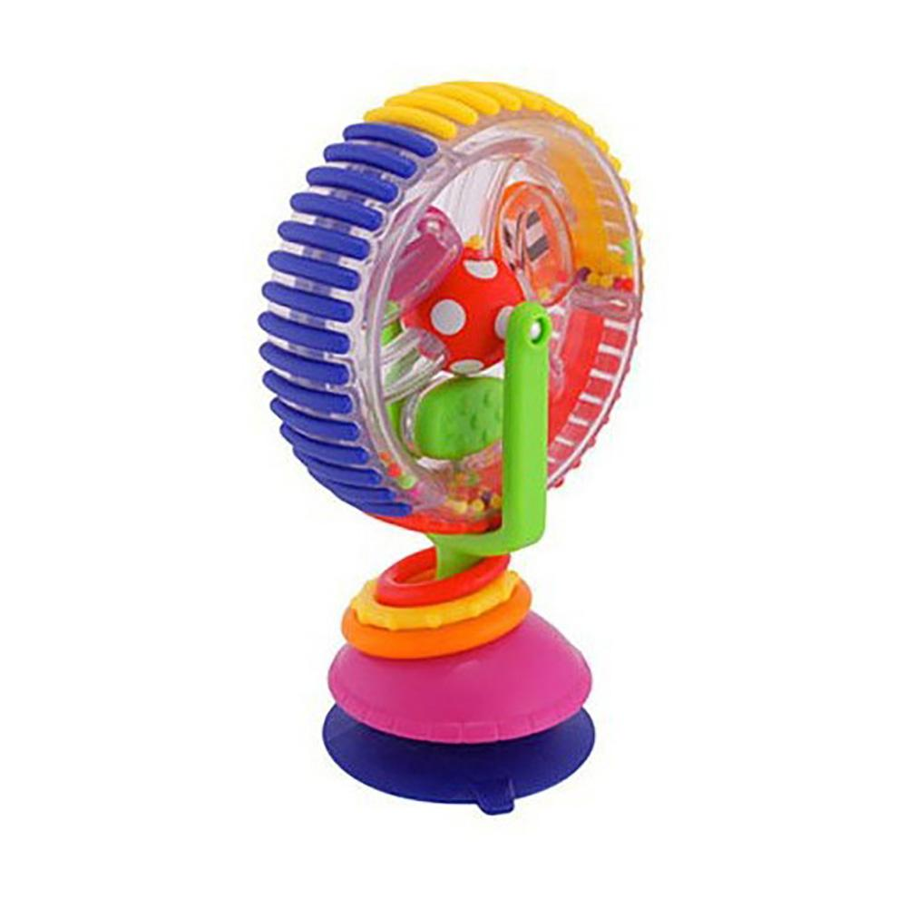 Sucker Wheel Rotating Ferris Rotating Windmill Rattle Baby Infant Highchair Toy Lovely Beads And Sound Attract Baby's Attention