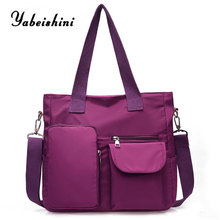 цена women Shoulder Bags Nylon cloth tote Lady's travel bag luxury handbags women bags designer sac a main High capacity shopping bag в интернет-магазинах