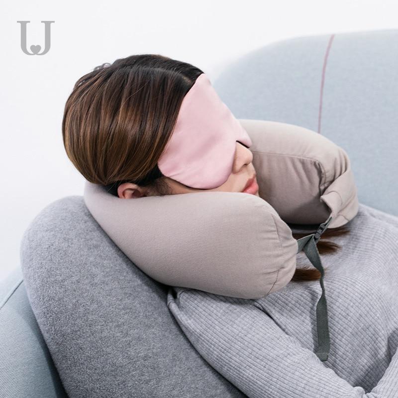 Jordan&Judy U-shaped Neck Pillow Office Home Waist Cushion Back Adjustable Elastic Buckle
