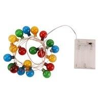 Светодиодная медная проволочная лампочка с шариками, гирлянды на Хэллоуин, Рождество, свадьба, праздничная комната, декоративные лампы H1