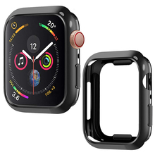 Laforuta Case for Apple Watch Series 4  Cover 44mm 40mm Bumper Black TPU Ultra-Thin Protector Watchcase iWatch