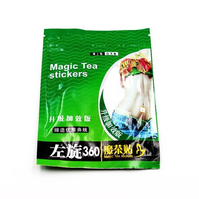 10 шт./пакет сжигание жира патч Magic Чай наклейки Тонкий пупка Придерживайтесь патч для похудения крем антицеллюлитный Похудение здравоохранения