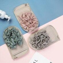 Bath-Towel Sponge Exfoliating Flower Shower-Scrub Bathroom-Accessories for Dual-Purpose