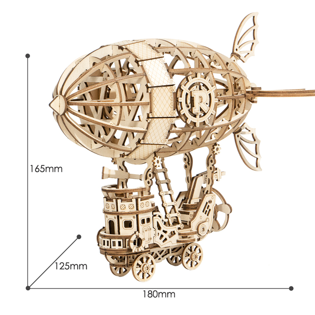 Robotime 3D Wooden Model Building Kits Airship Toys For Children Kids Girls Birthday Gift