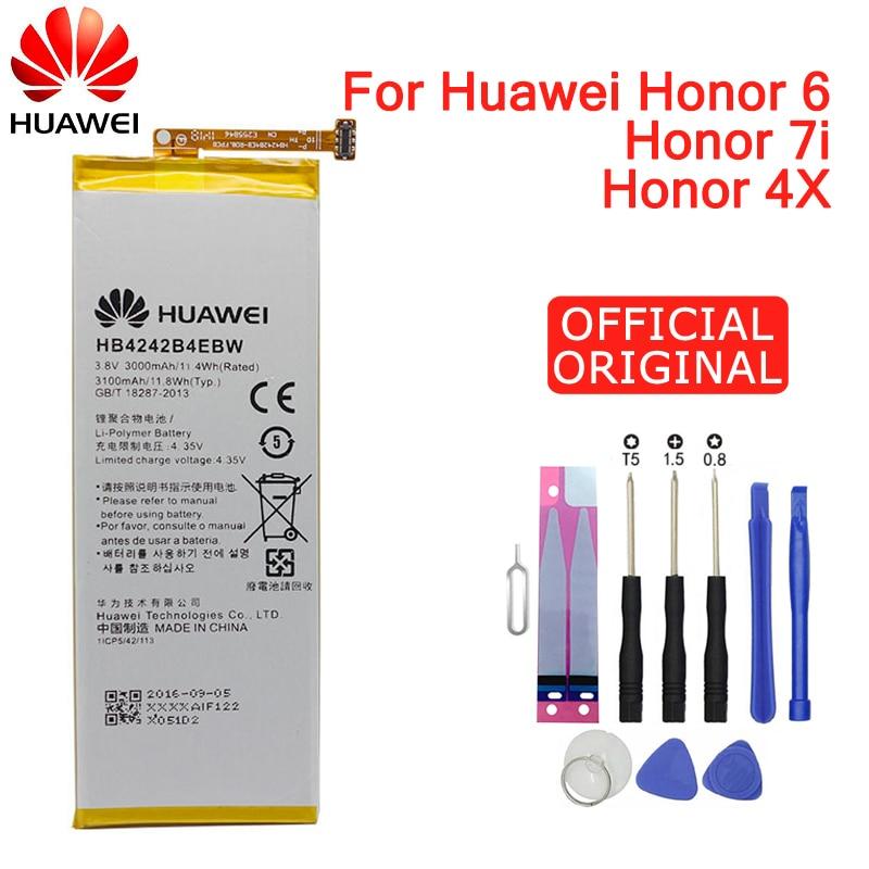 Hua Wei Replacement Phone Battery HB4242B4EBW For Huawei Honor 6 / Honor 4X / Honor 7i / Shot X ShotX 3000mAh
