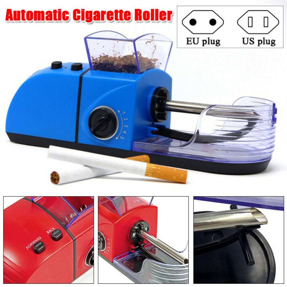 100-240V Electric Automatic Cigarette Roller Tobacco Rolling Injector  78mm DIY Smoking Tool Smoking Accessories EU / US Plug 1